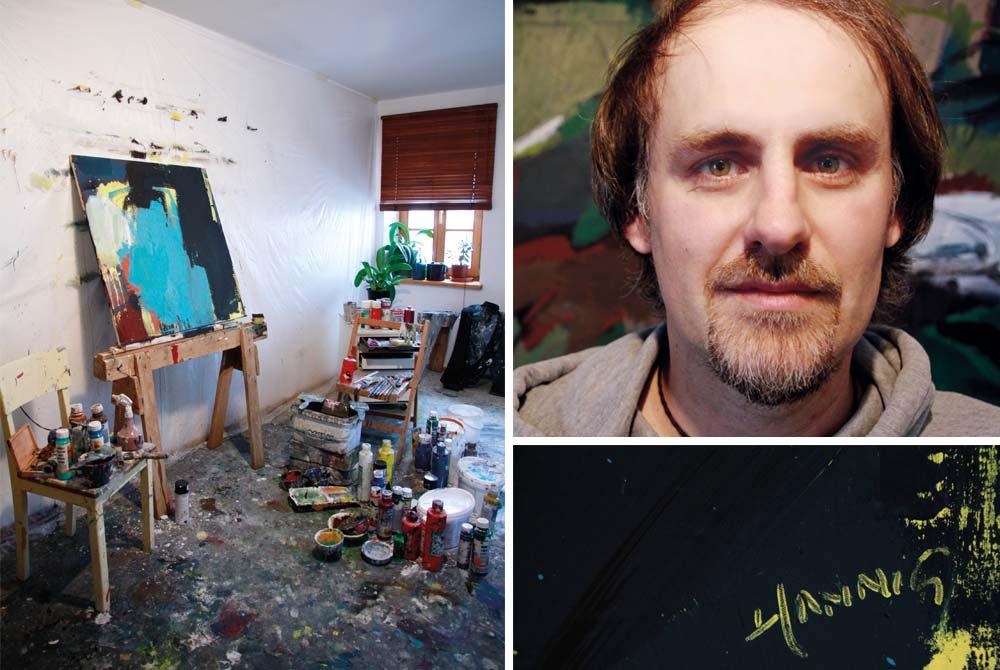 Das Atelier von Florian Hannig