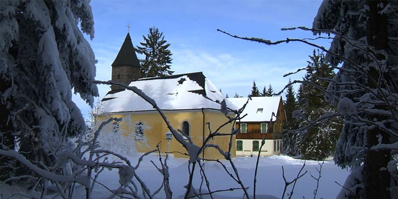 Stadt Haidmühle im Winter