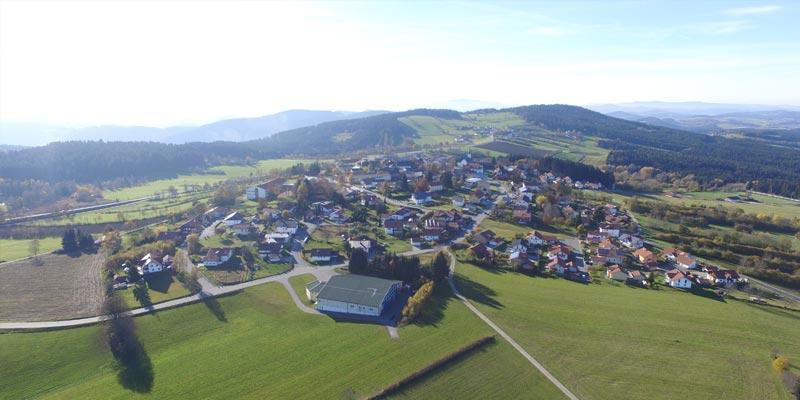 Luftbild von Hohenau