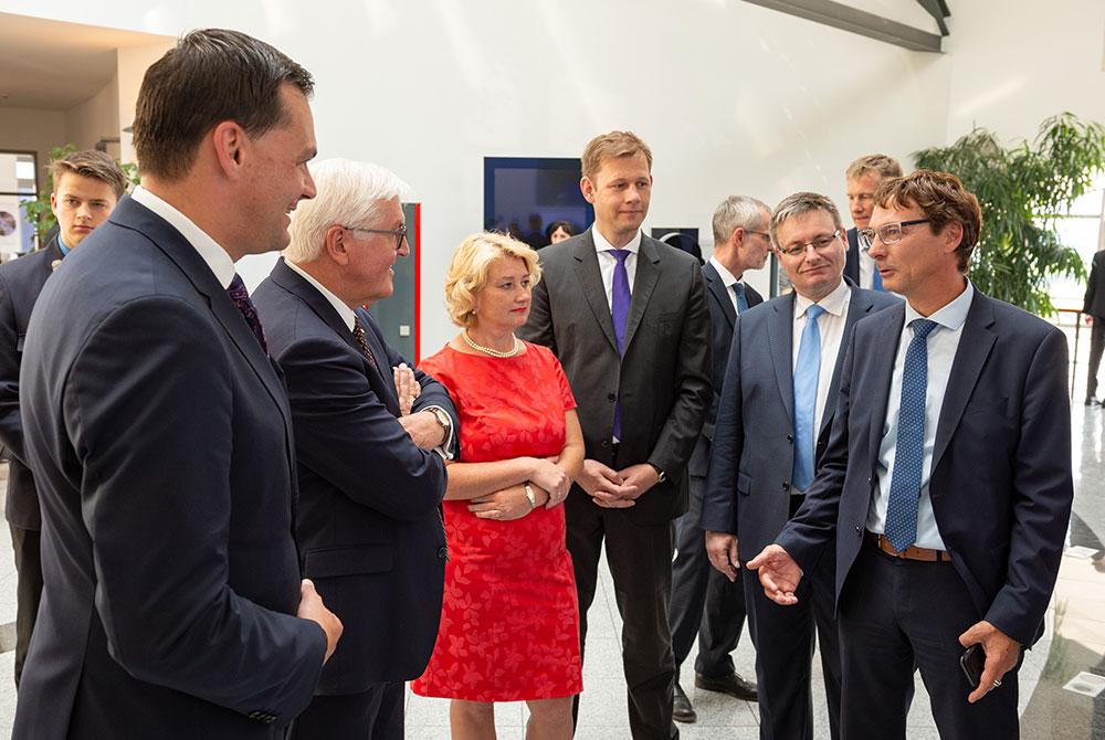 Landtag Begrüßung von Bundespräsidenten