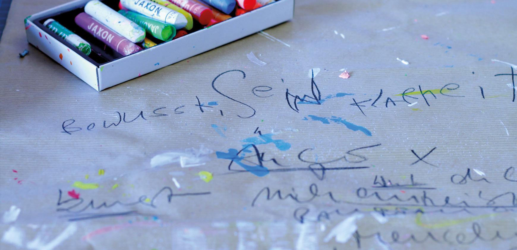 Hohenwarters eigene Handschrift