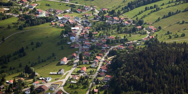 Luftbild von Philippsreut