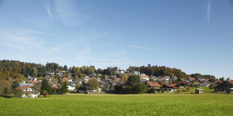 Gemeinde Spiegelau im Sommer